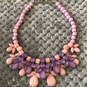 jcrewPink and Purple Statement Necklace